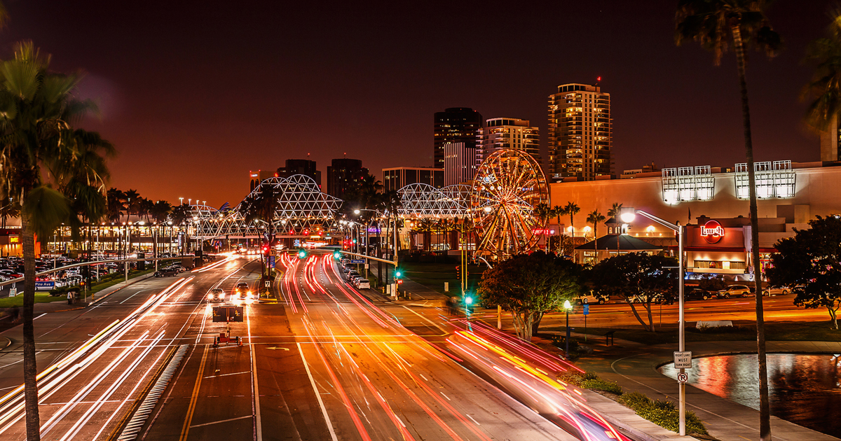 Light Trails - Long Beach, CA